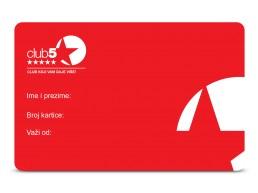 Top Shop Club 5* kartica
